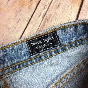 Volcom Shorts - Volcom Sound Check Shorts Fabric Fold Over DENIM